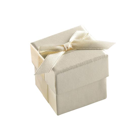 Ivory Favor Box - Set of 10