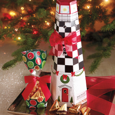 Christmas Lighthouse Box - 24 pc