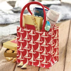 Sailboat Tote with 12 Piece Sweet Sloops