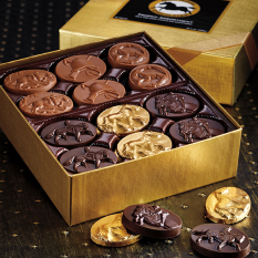 Assorted Gourmet Hand Crafted Horse Theme Dark and Milk Chocolates