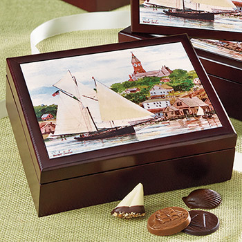 Keepsake Box 'Harbor Scene' - 30 pc.
