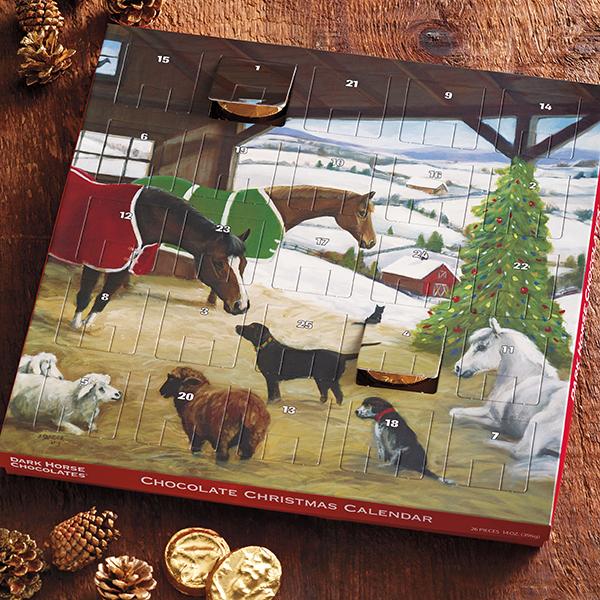 Dark Horse Chocolates Christmas Calendar 'The Barn'