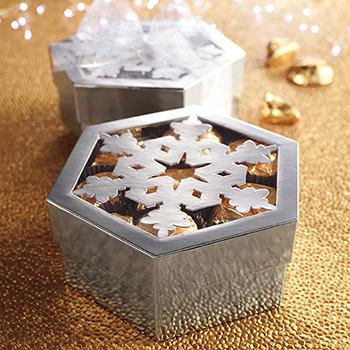 Silver Snowflake Box