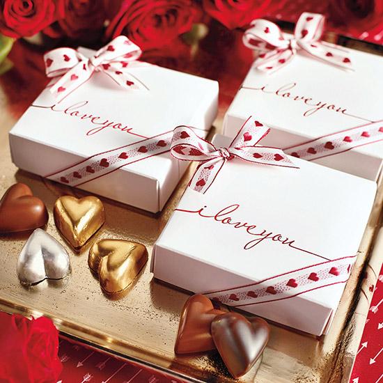 I Love You Chocolate Hearts