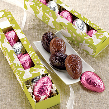 Peanut Butter Filled Chocolate Eggs - 5 pc.