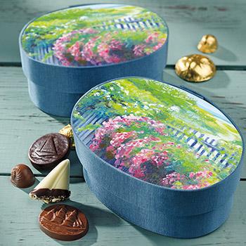 Sconset Roses Fabric Box