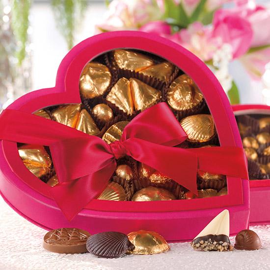 Pink Passion Heart Box Assortment