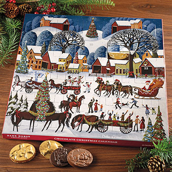 "Dark Horse Chocolates Christmas Calendar ""Country Christmas Parade"""