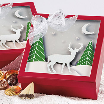 Reindeer Shadow Box - 40 pc.