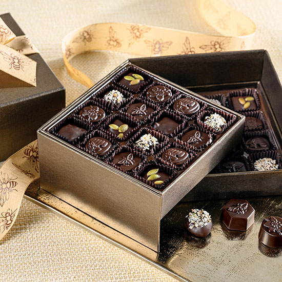 Gather Chocolates Two Tier Gift Box - Harbor Sweets