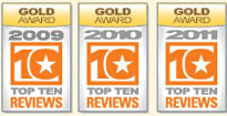 TopTenReview Gold Award