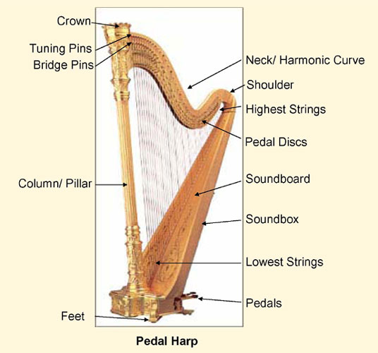 Sylvia Woods Harp Center - Parts of a Harp