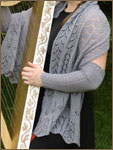 shawl and arm warmers