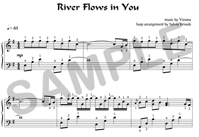 Sylvia Woods Harp Center - Classical Books u0026 PDFs - River Flows in You Sheet Music by Sylvia ...