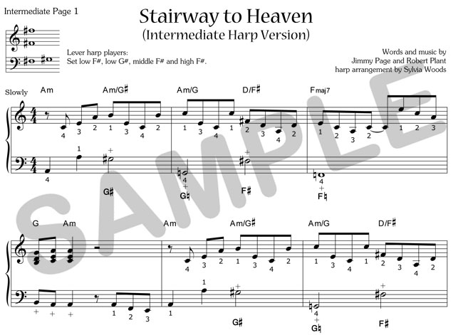 Sylvia Woods Harp Center - Pop Books & PDFs - Stairway to Heaven ...