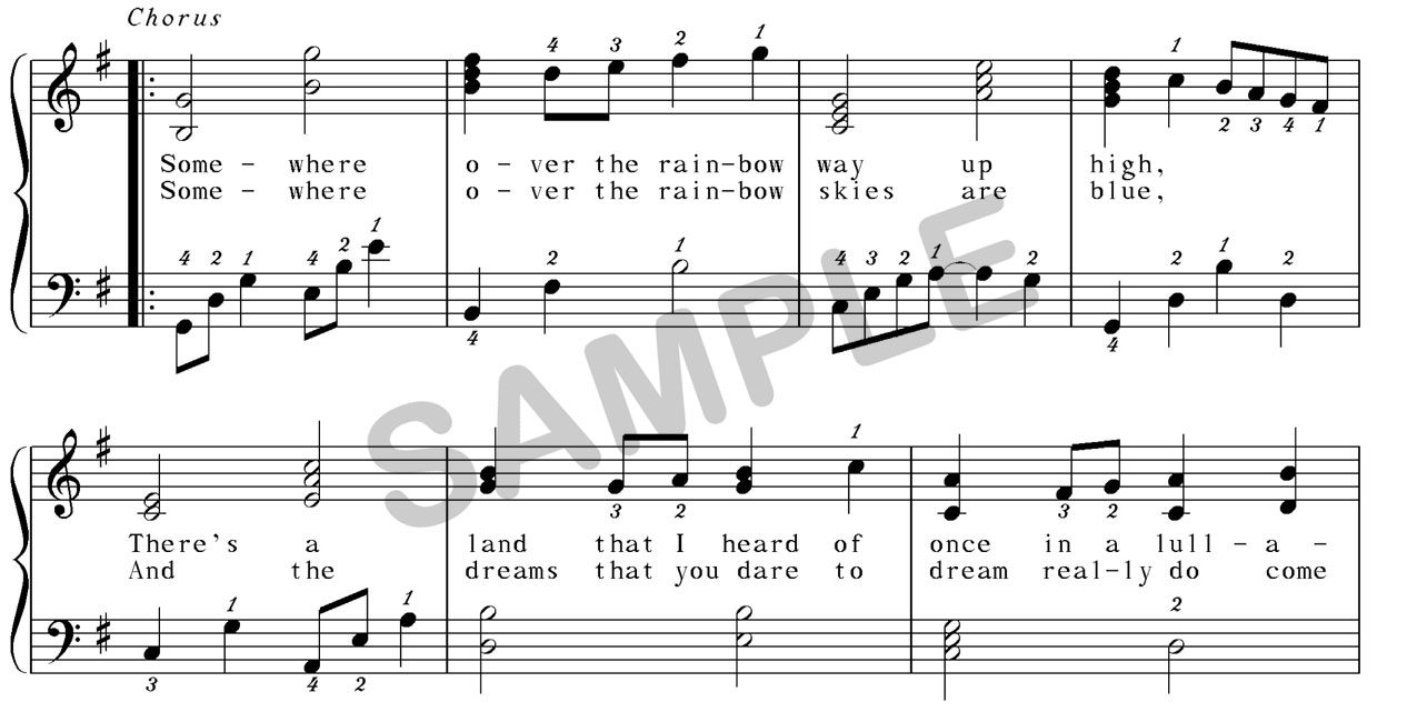 somewhere over the rainbow sheet music free download