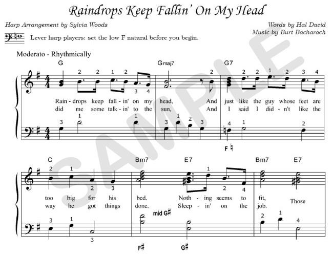 Raindrops Keep Falling On My Head Chords - Marion Maerz lyrics & tabs