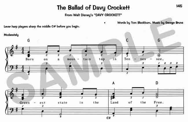 Ballad of davy crockett lyrics disney