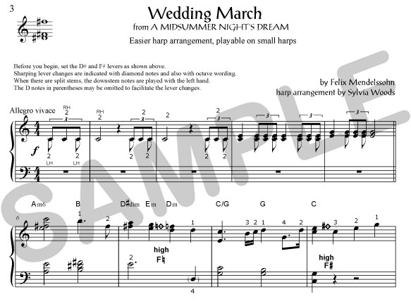 Wedding March Easier For Small Harps