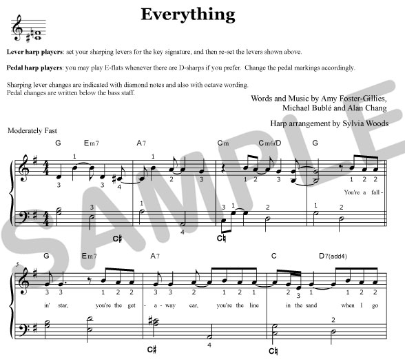 everything buble sheet music pdf