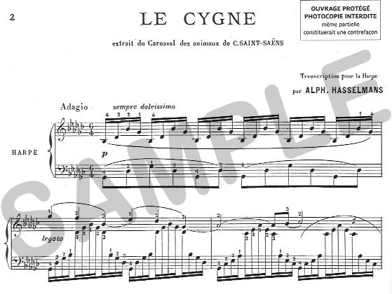 Sylvia Woods Harp Center - Pedal Harp Music Books - Le Cygne