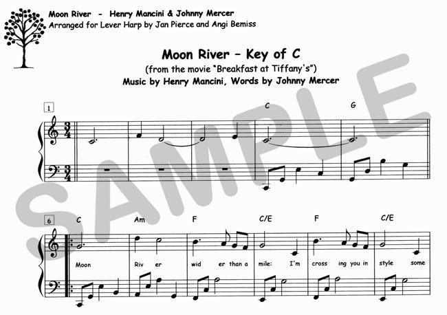 Sylvia Woods Harp Center - Pop Books & PDFs - Moon River sheet music ...