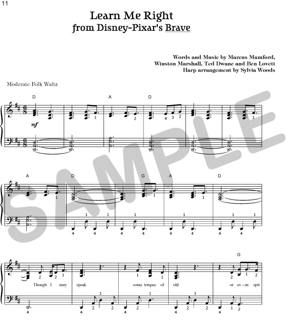 UP Theme from Disney-Pixar for Harp by Sylvia Woods
