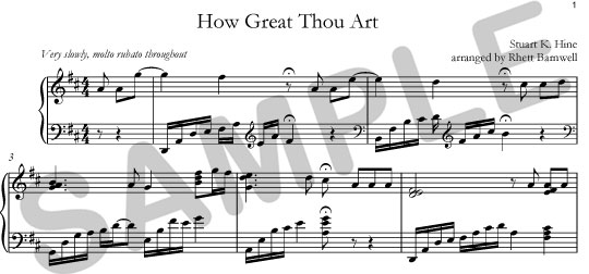 how great thou art music pdf