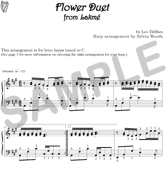 Flower Duet - for lever harps tuned to C ...