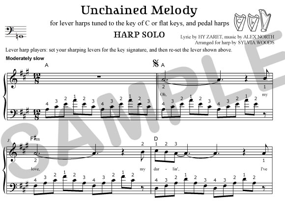 Sylvia Woods Harp Center - Pop Books & PDFs - Unchained Melody ...