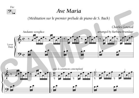 gounod ave maria score