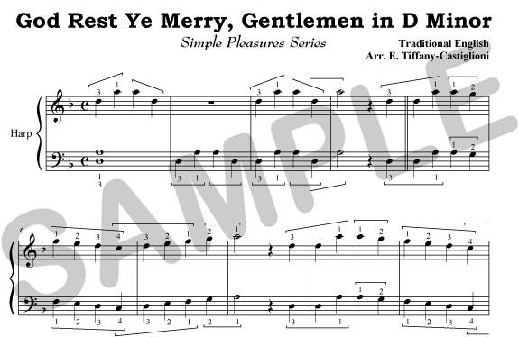 Sylvia Woods Harp Center - New Harp Books u0026 PDFs - God Rest Ye Merry Gentlemen arranged by ...