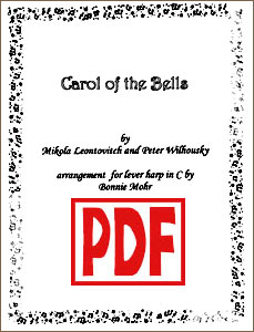 Carol of the Bells Easy Solo by Bonnie Mohr <span class='red'>PDF Download</span>