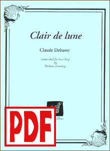 Clair de lune (Debussy) by Barbara Brundage <span class='red'>PDF Download</span>