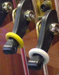 White and Yellow Rubber Accidental Rings