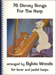 76 Disney Songs For The Harp book by Sylvia Woods