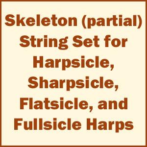 Skeleton (Partial) Set of Harpsicle Harp Strings
