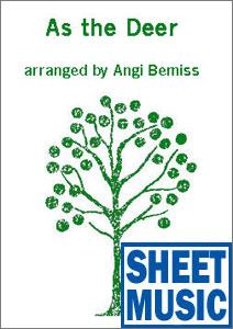 As the Deer <span class='blue'>Sheet Music</span> arranged by Angi Bemiss