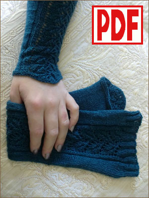 <span class='red'>PDF PATTERN</span> for Knitting Arm Warmers