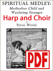 Spiritual Medley for Harp and Choir by Sylvia Woods <span class='red'> PDF Download </span>
