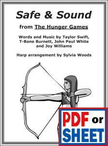 Safe & Sound from The Hunger Games arranged by Sylvia Woods