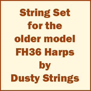 Set of Strings for Dusty Strings Older Model FH36 Harps (if there is no letter after the FH36)