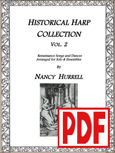 Historical Harp Collection #2 by Nancy Hurrell - <span class='red'>PDF Download</span>