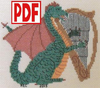 Dragon Lullaby Cross-Stitch <span class='red'>PDF PATTERN</span>