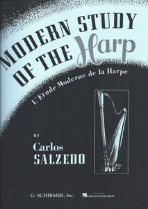 Modern Study of the Harp <span class='blue'>book</span> for PEDAL harp by Carlos Salzedo