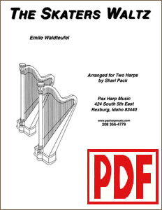 Skaters Waltz for 2 Harps by Shari Pack <span class='red'>PDF Download</span>