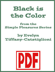 Black is the Color arranged by Evelyn Tiffany-Castiglioni <span class='red'>PDF Download</span>