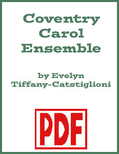 Coventry Carol arranged for harp and treble clef instruments by Evelyn Tiffany-Castiglioni PDF Download