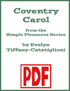 Coventry Carol arranged for solo harp by Evelyn Tiffany-Castiglioni <span class='red'>PDF Download</span>