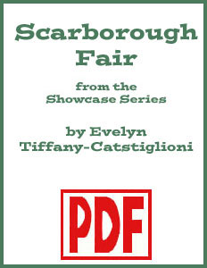 Scarborough Fair Showcase Edition arranged by Evelyn Tiffany-Castiglioni <span class='red'>PDF Download</span>